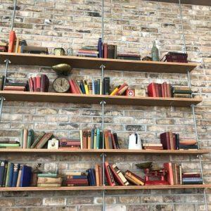 London weathered Yellow stock brick slips feature wall office