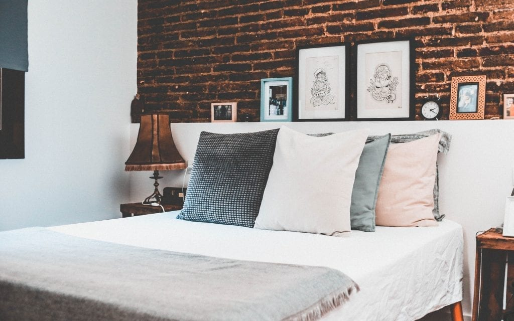 bedroom brick slips