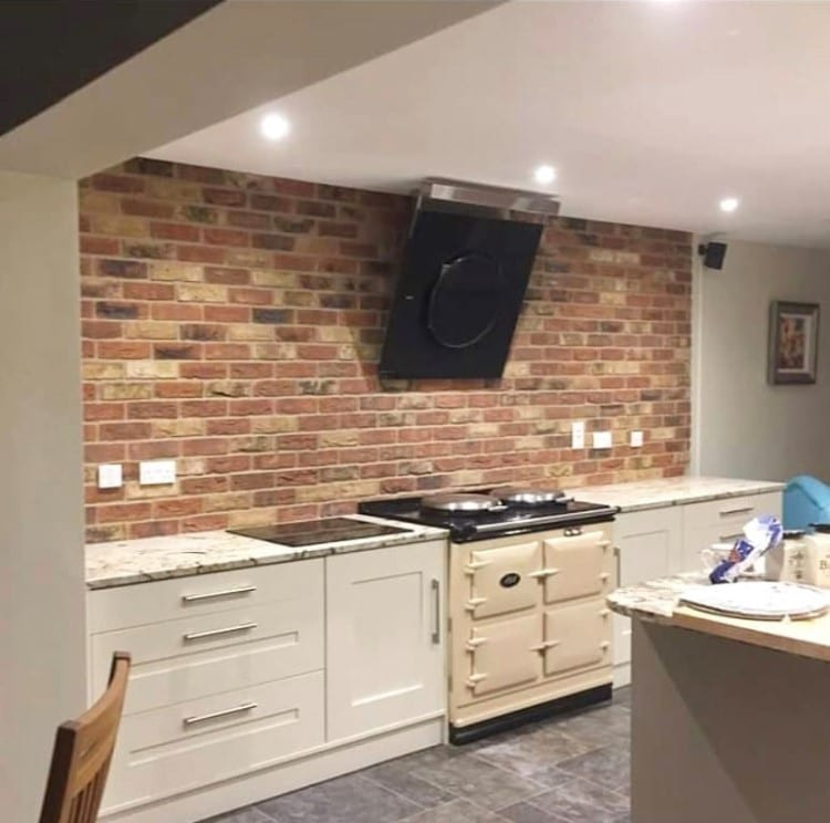Birkdale Blend Residential Brick Slip Kitchen