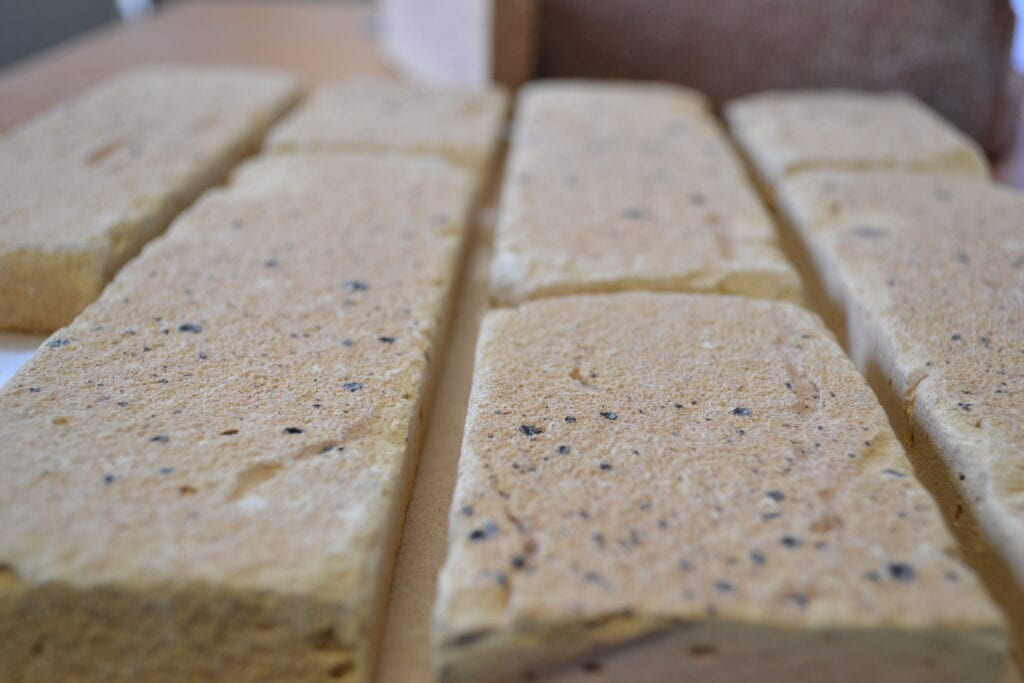 brick slip production