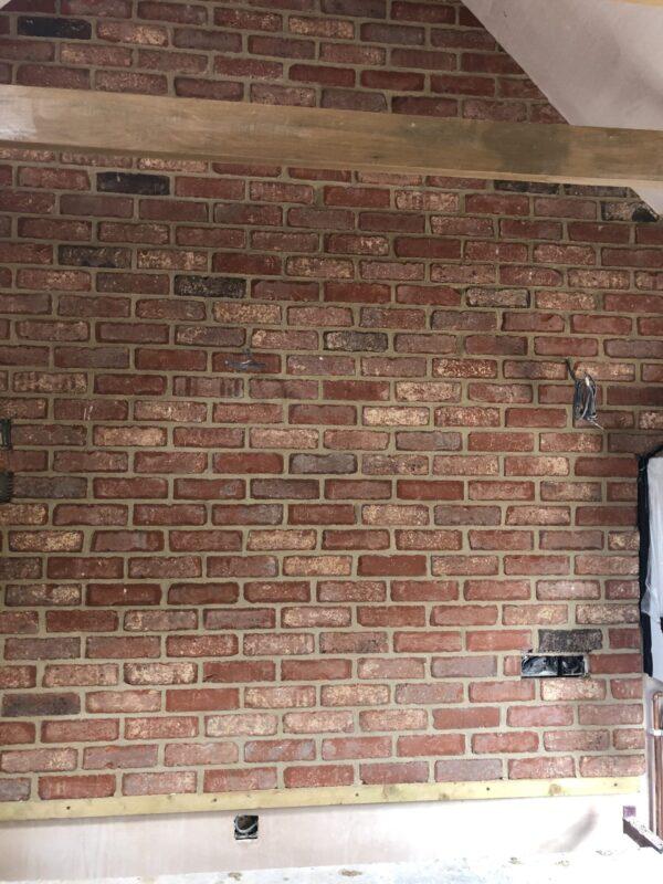 Wellbourne Antique Brick Slip Installation