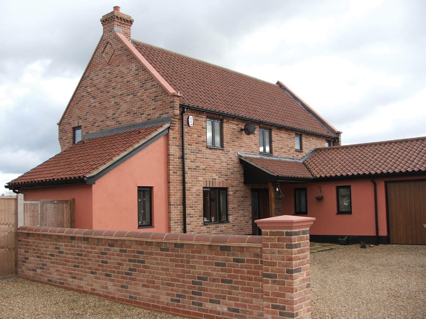 Traditional Farmhouse Exterior Brick Tiles