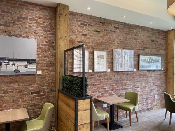 brick slips for kitchen wall