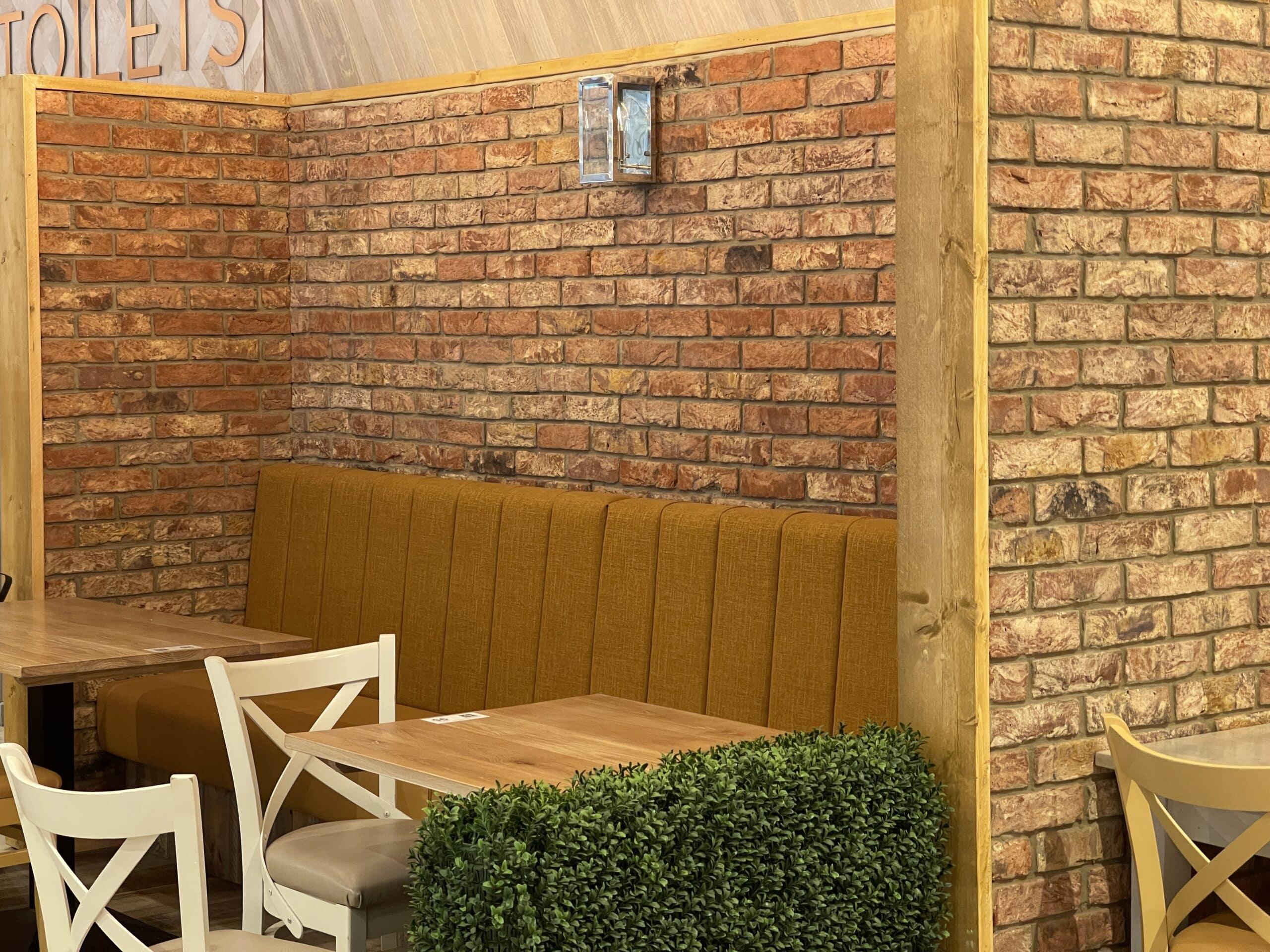 brick slips commercial interior kitchen