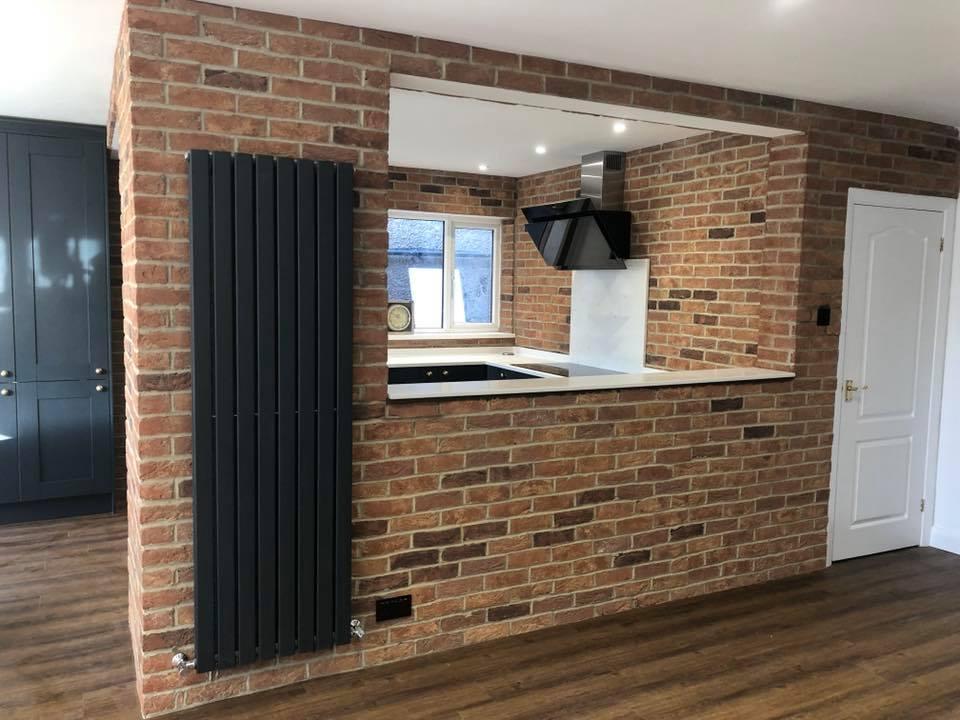 living room brick slips