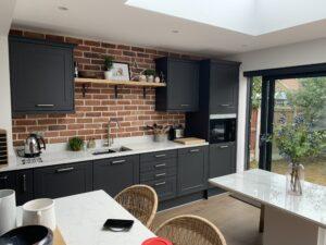 Perfect brick slip feature wall Kitchen