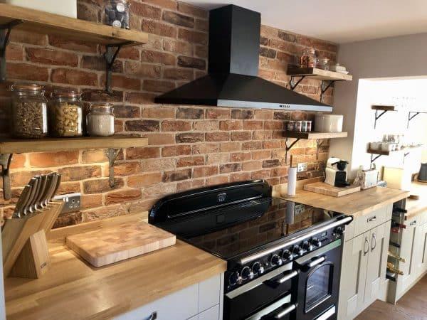 kitchen spolashback brick slips coach house