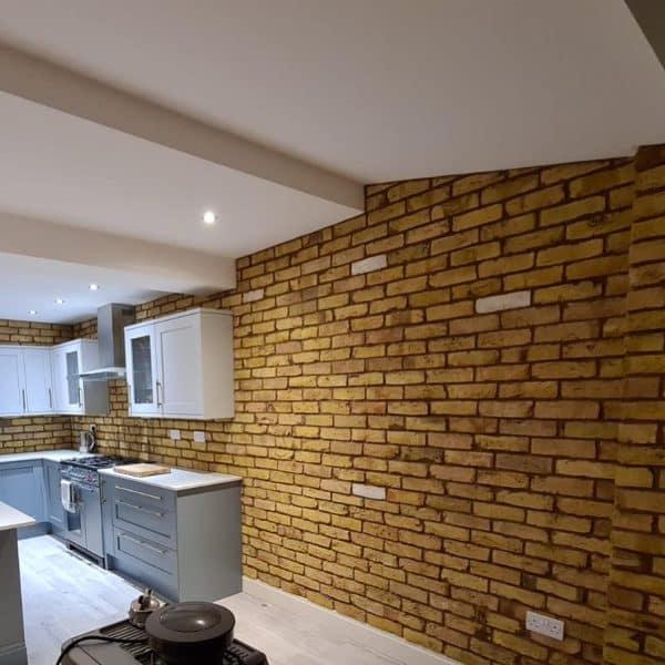 london yellow stock reclaimed kitchen brick slip