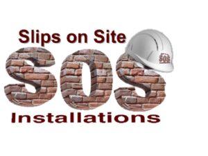 brick slips on site