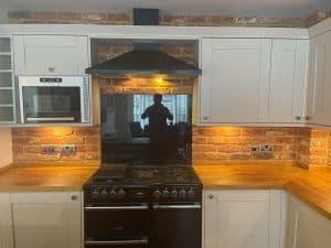 kitchen splashback feature brick slips