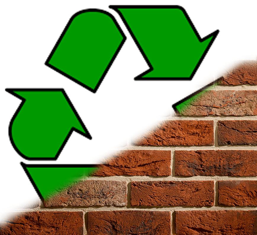 Eco friendly brick slips