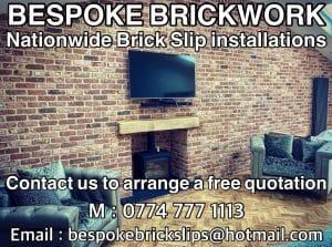 bespoke brick slip installation
